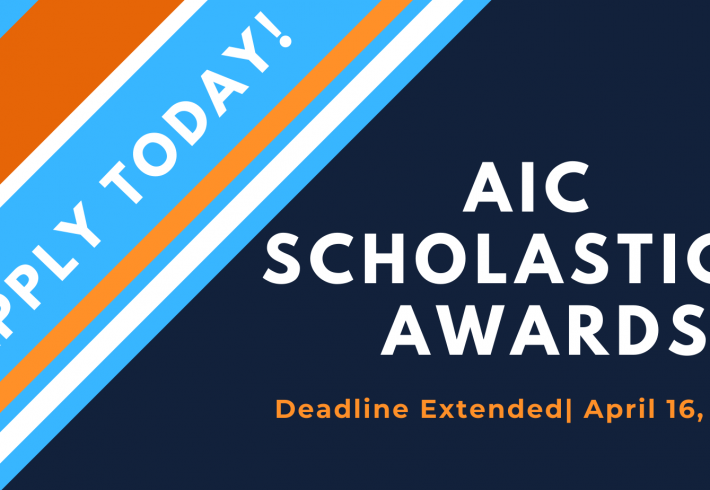 Deadline Extended for Two AIC Scholastic Awards: April 16, 2021